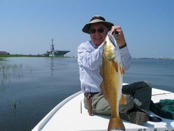 saltwater redfish fish Charleston Harbor family recreation charter boat